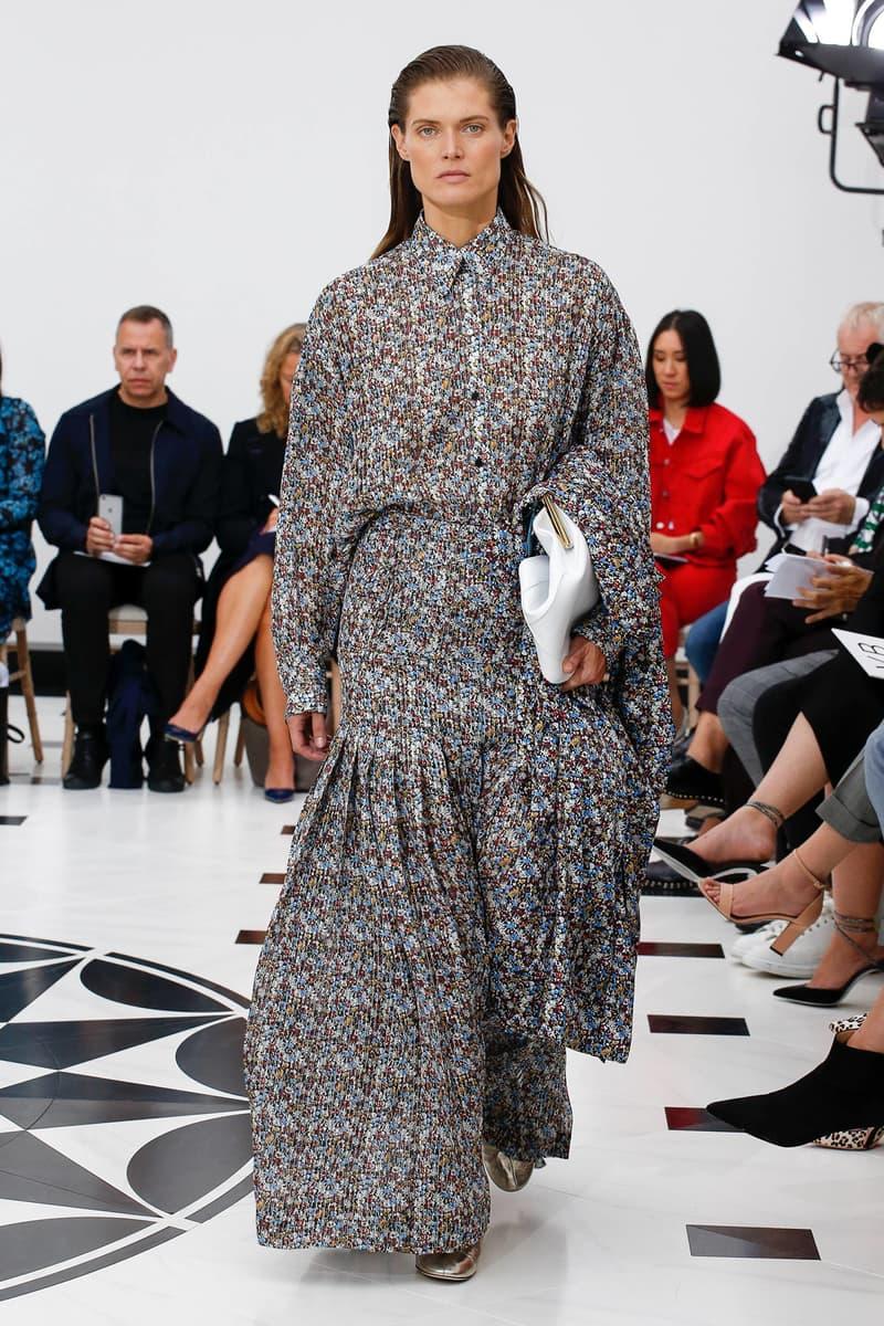 Victoria Beckham Spring Summer 2019 London Fashion Week Show Collection Dress Grey