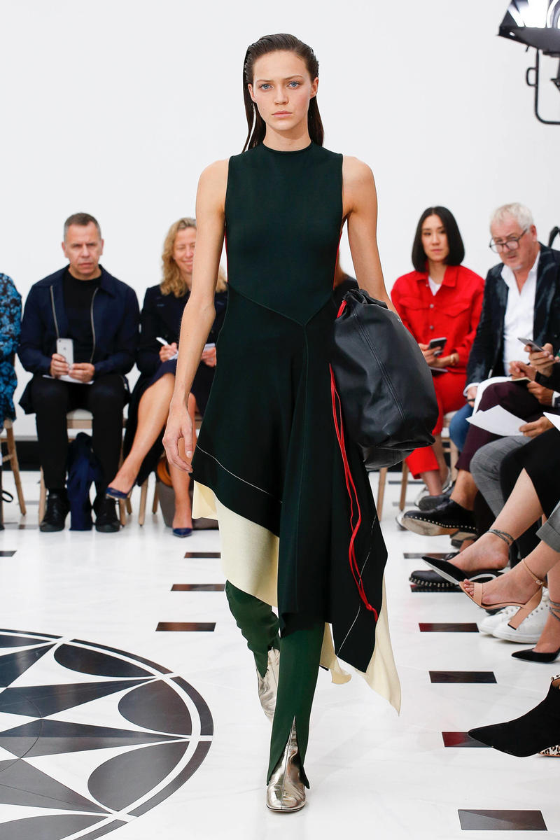 Victoria Beckham Spring Summer 2019 London Fashion Week Show Collection Dress Trousers Black