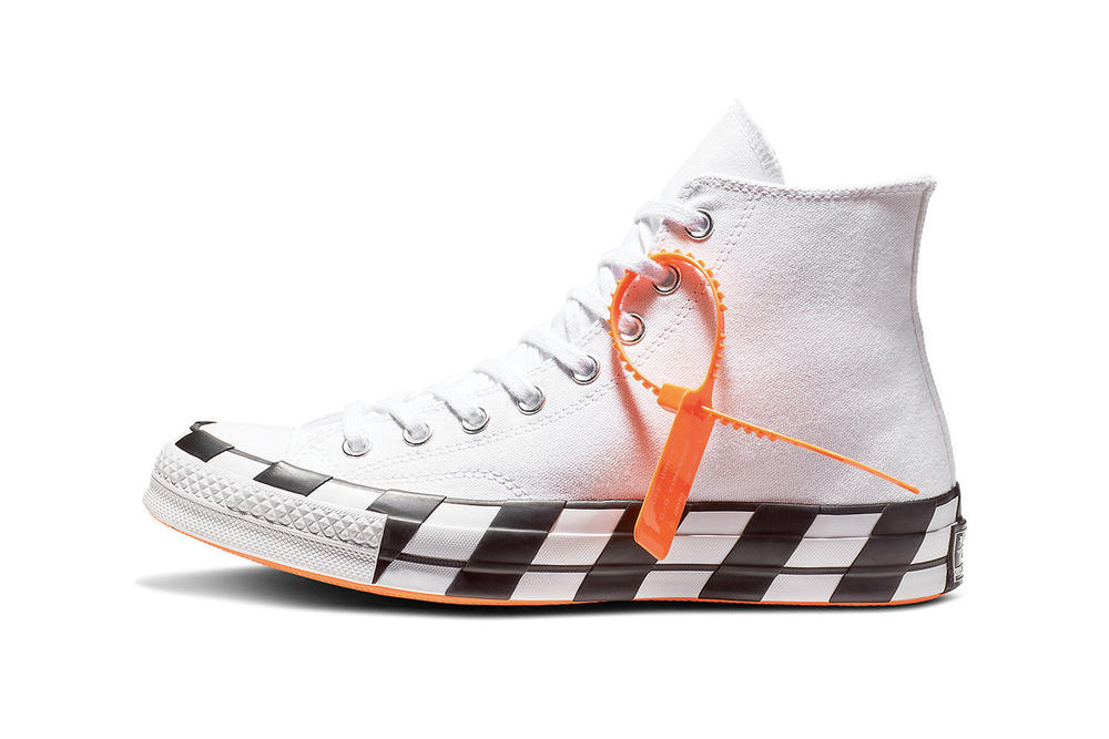 Off-White x Converse Chuck 70 Closer Look Striped Virgil Abloh Black White Drop Release Date