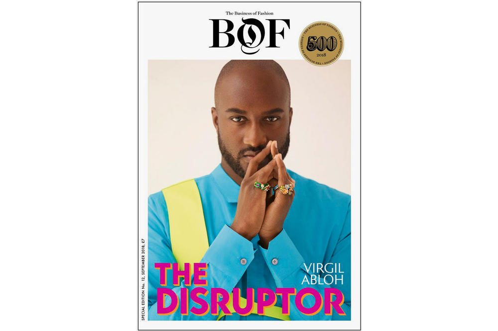 Virgil Abloh Business of Fashion BOF500 Cover