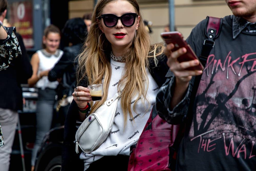 Woman Supreme T Shirt Logo London Fashion Week