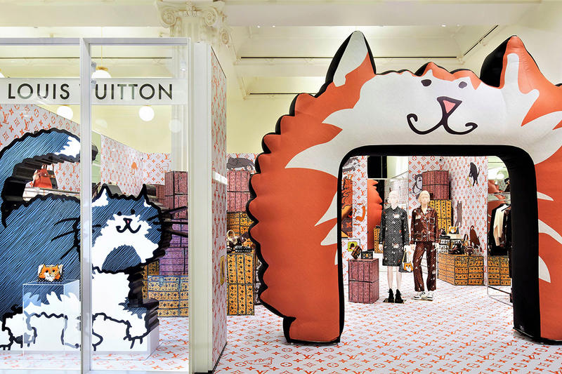 Louis Vuitton  Grace Coddington Cat Catagram Collection Pop-up Selfridges London