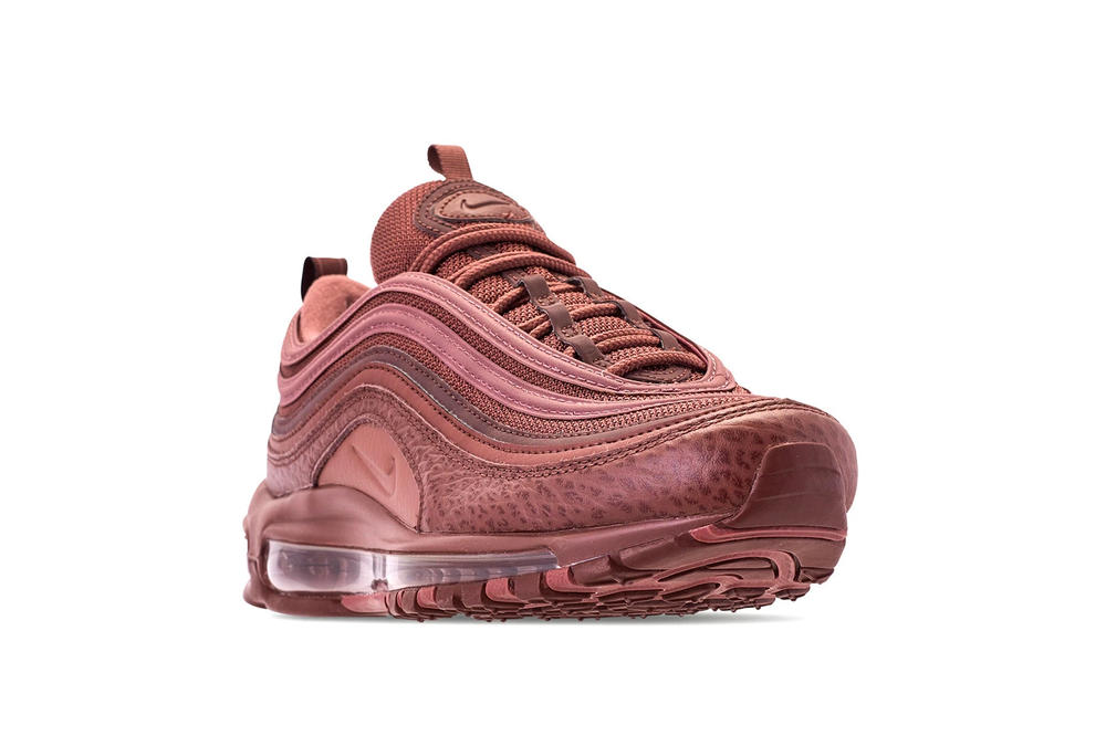 "Nike Air Max 97 ""Mahogany Mink"" Burgundy Shoe Fall Winter Color"