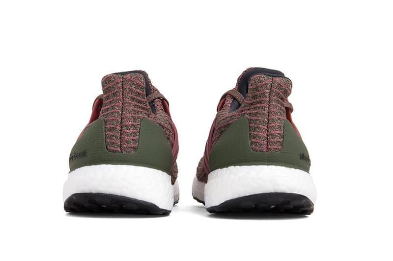 adidas UltraBOOST Trace Maroon Sneaker Flyknit Sneaker Boost Sole Red Green