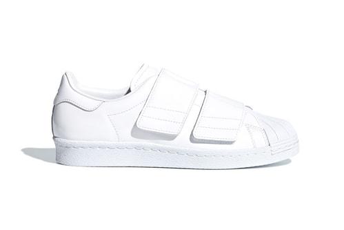 89eef9c33cab adidas Originals Adds Shiny Velcro Straps to the Superstar 80s