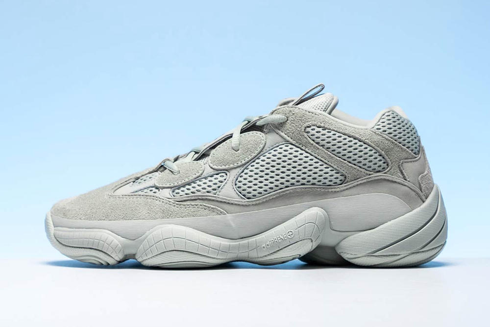 bd0c967e1 Kanye West adidas Originals Yeezy 500 Salt Release Grey Sneaker Shoe First  Look