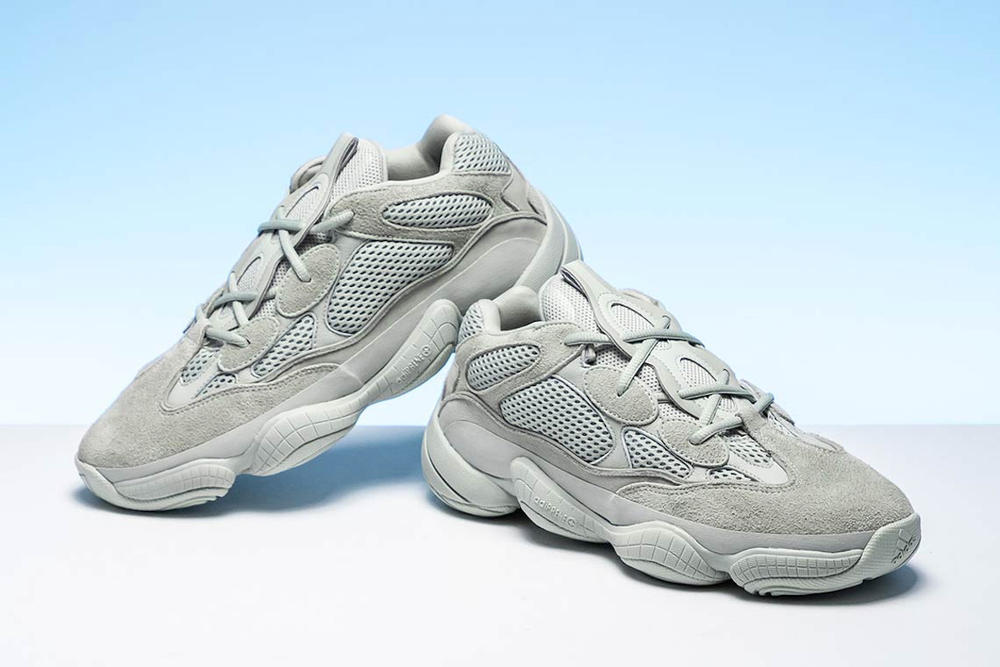 Kanye West adidas Originals Yeezy 500 Salt Release Grey Sneaker Shoe First Look