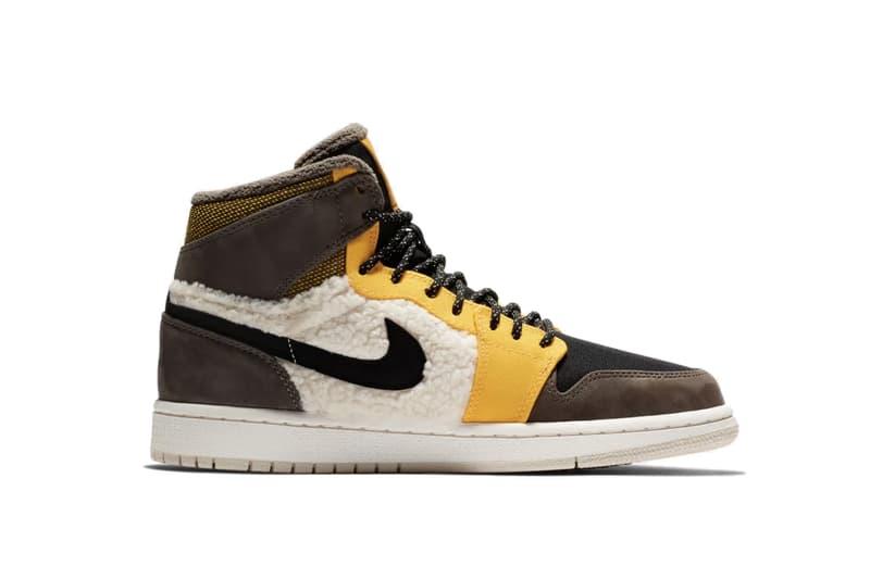 d84dbe5e1e9c6 Nike Air Jordan 1 Flight Utility Release Sneaker Sherpa Fleece Shoe  Panelling