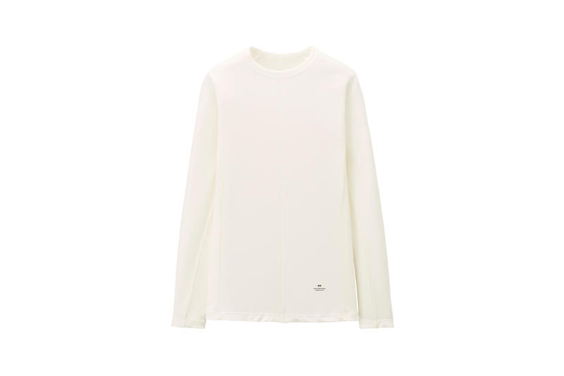 Alexander Wang x Uniqlo Heattech Collection Long Sleeve Shirt Cream