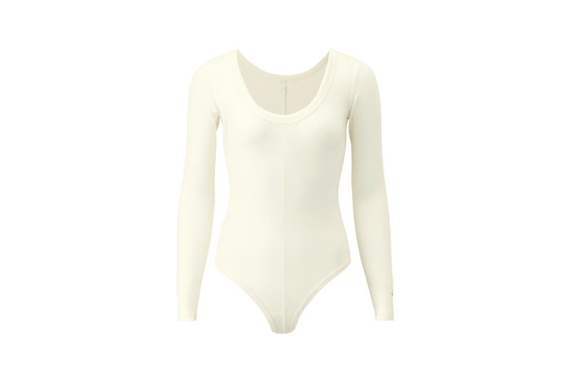 Alexander Wang x Uniqlo Heattech Collection Long Sleeve Bodysuit Cream