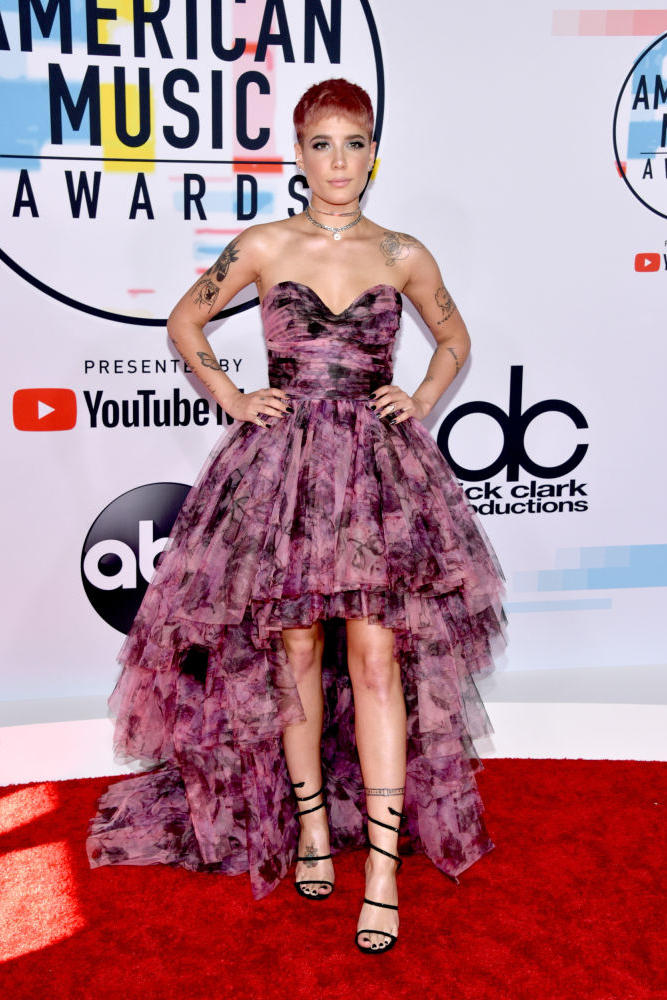 Halsey American Music Awards AMAs 2018 Red Carpet