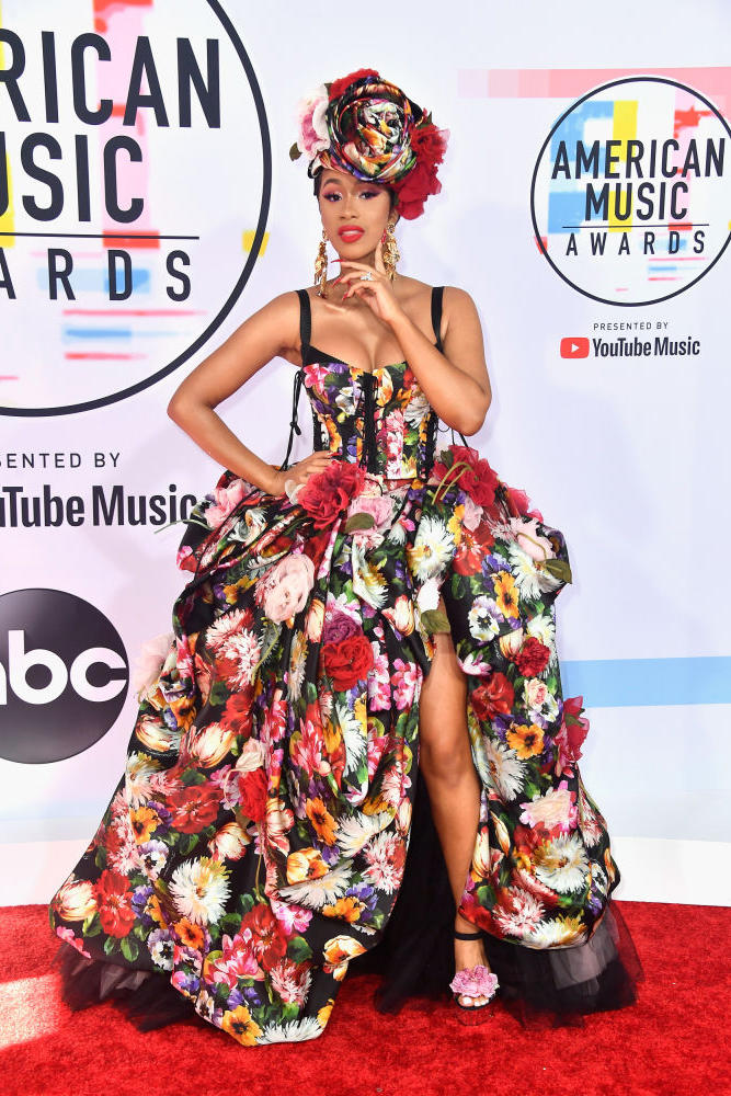 Cardi B American Music Awards AMAs 2018 Red Carpet