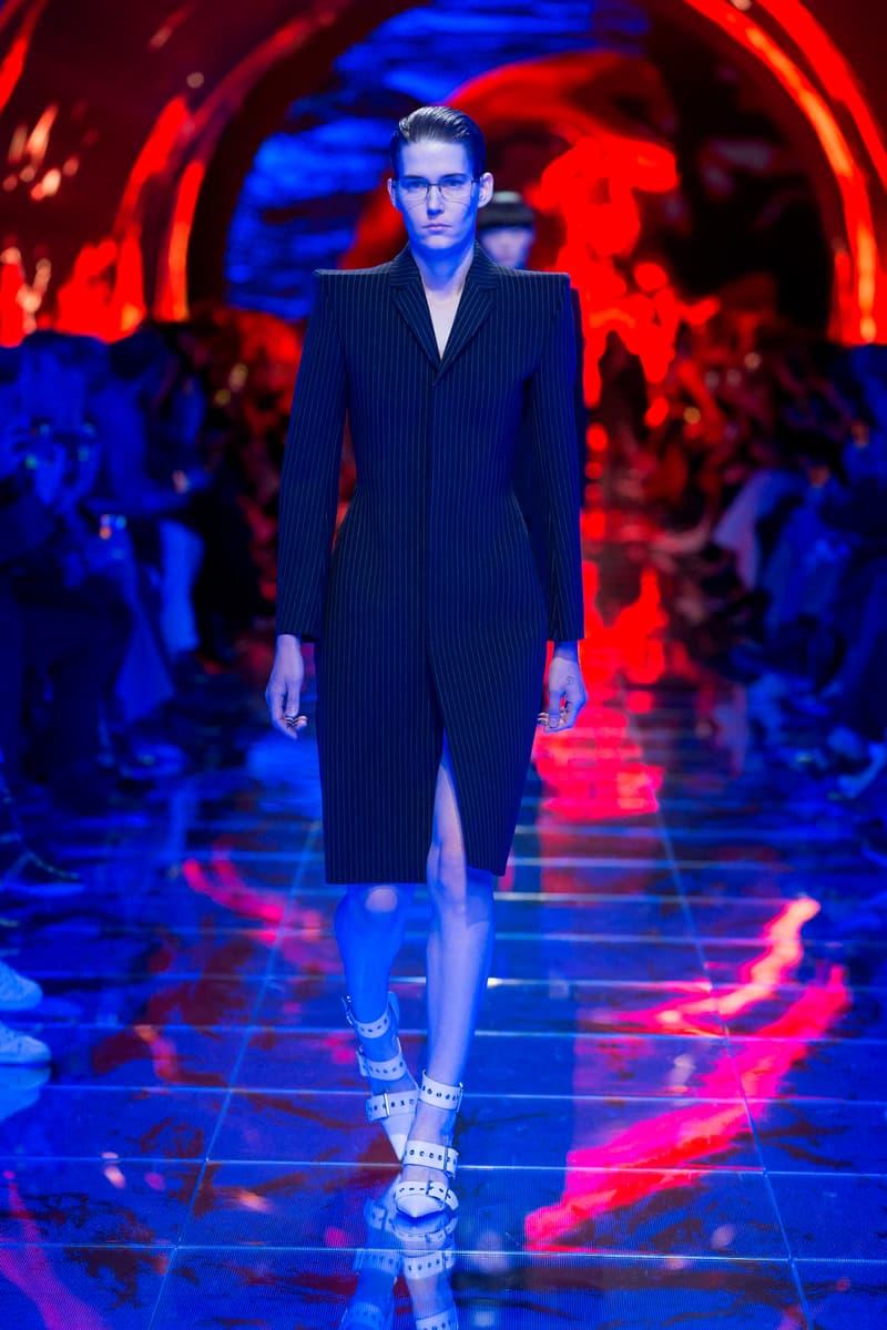 Balenciaga Spring Summer 2019 Show Collection Paris Fashion Week Blazer Black
