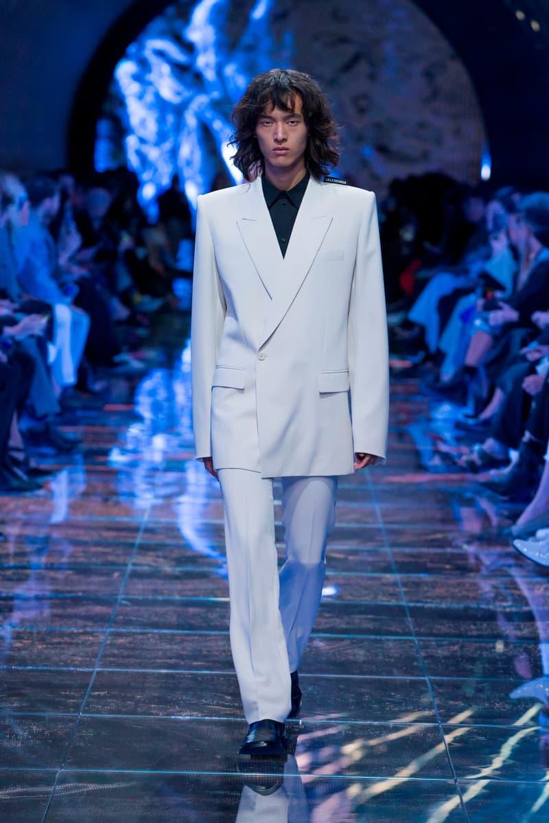 Balenciaga Spring Summer 2019 Show Collection Paris Fashion Week Blazer Trousers White