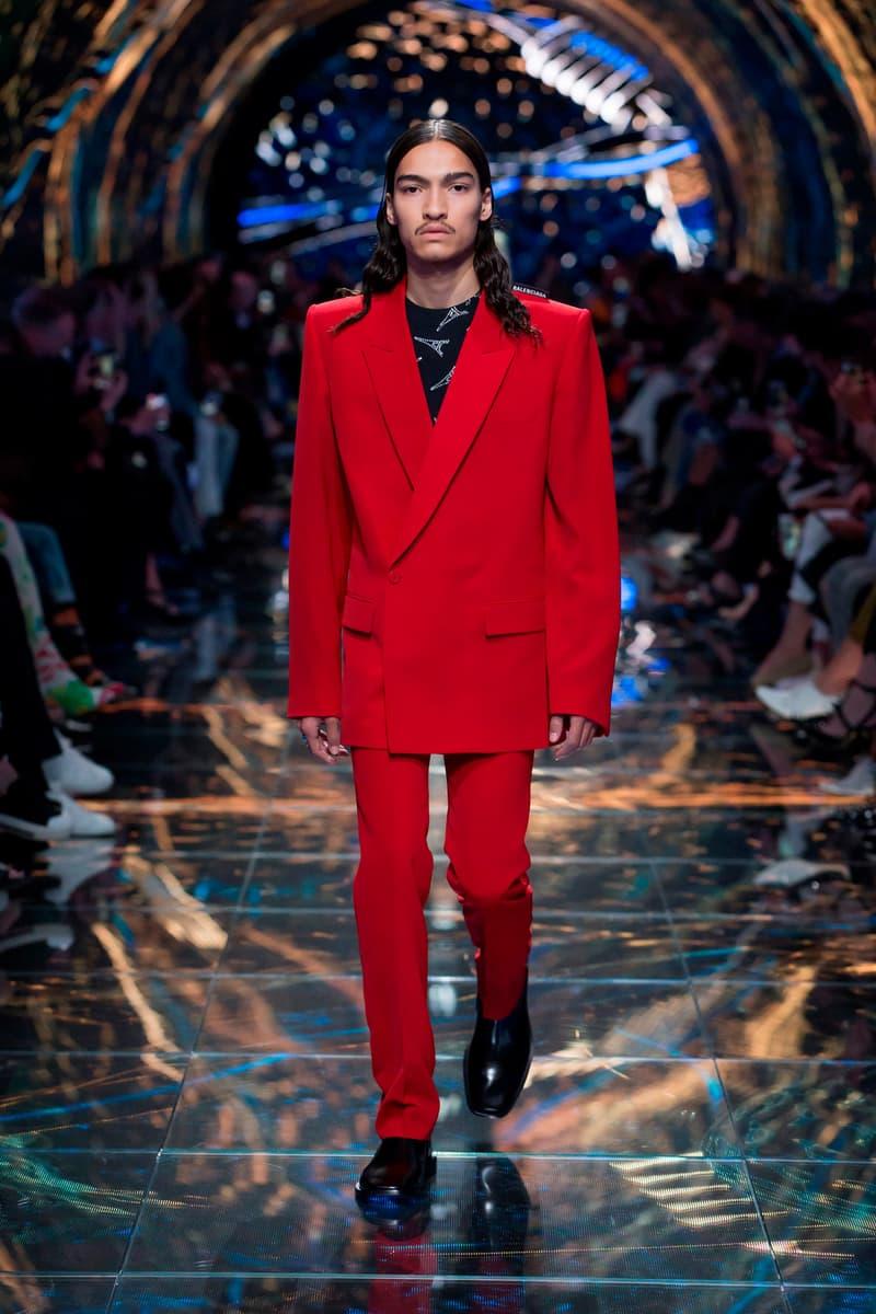 Balenciaga Spring Summer 2019 Show Collection Paris Fashion Week Blazer Trousers Red