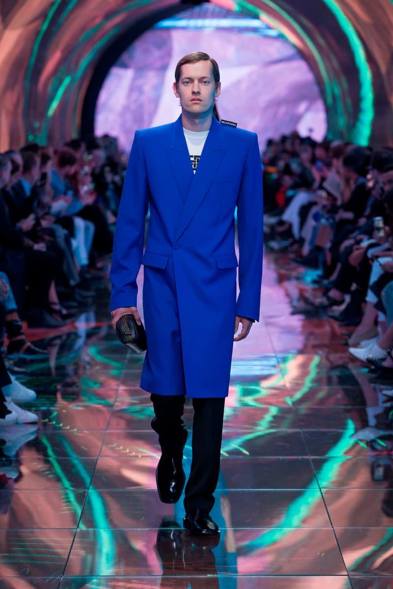 Balenciaga Spring Summer 2019 Show Collection Paris Fashion Week Coat Blue