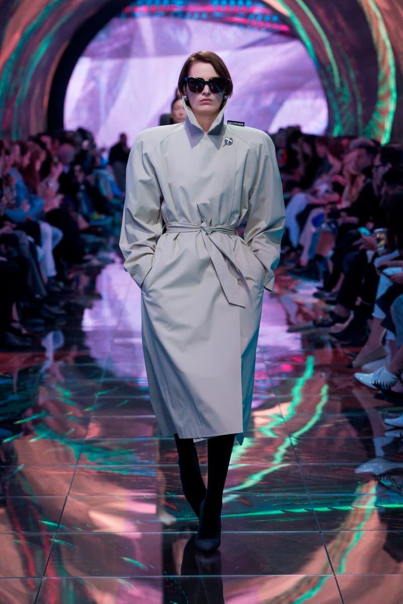 Balenciaga Spring Summer 2019 Show Collection Paris Fashion Week Coat Grey