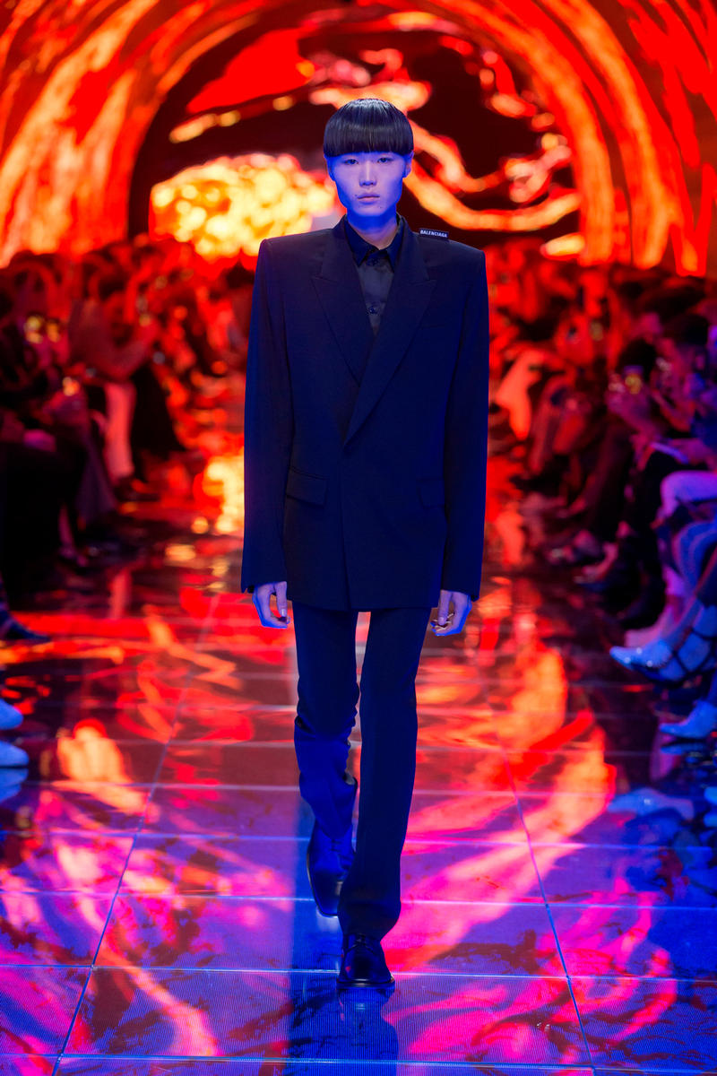 Balenciaga Spring Summer 2019 Show Collection Paris Fashion Week Blazer Trousers Black