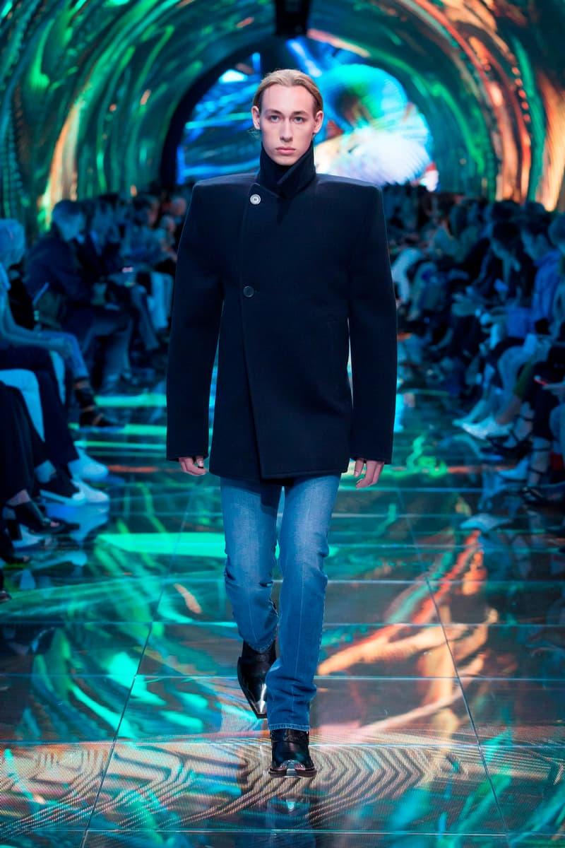 Balenciaga Spring Summer 2019 Show Collection Paris Fashion Week Jacket Black Jeans Blue