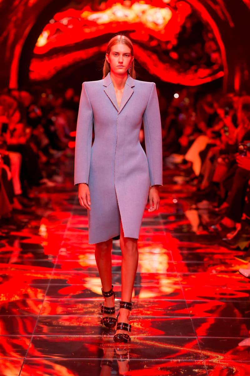 Balenciaga Spring Summer 2019 Show Collection Paris Fashion Week Blazer Grey