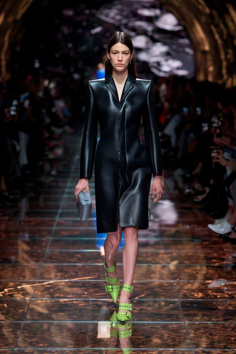 Balenciaga Spring Summer 2019 Show Collection Paris Fashion Week Jacket Black Heels Green
