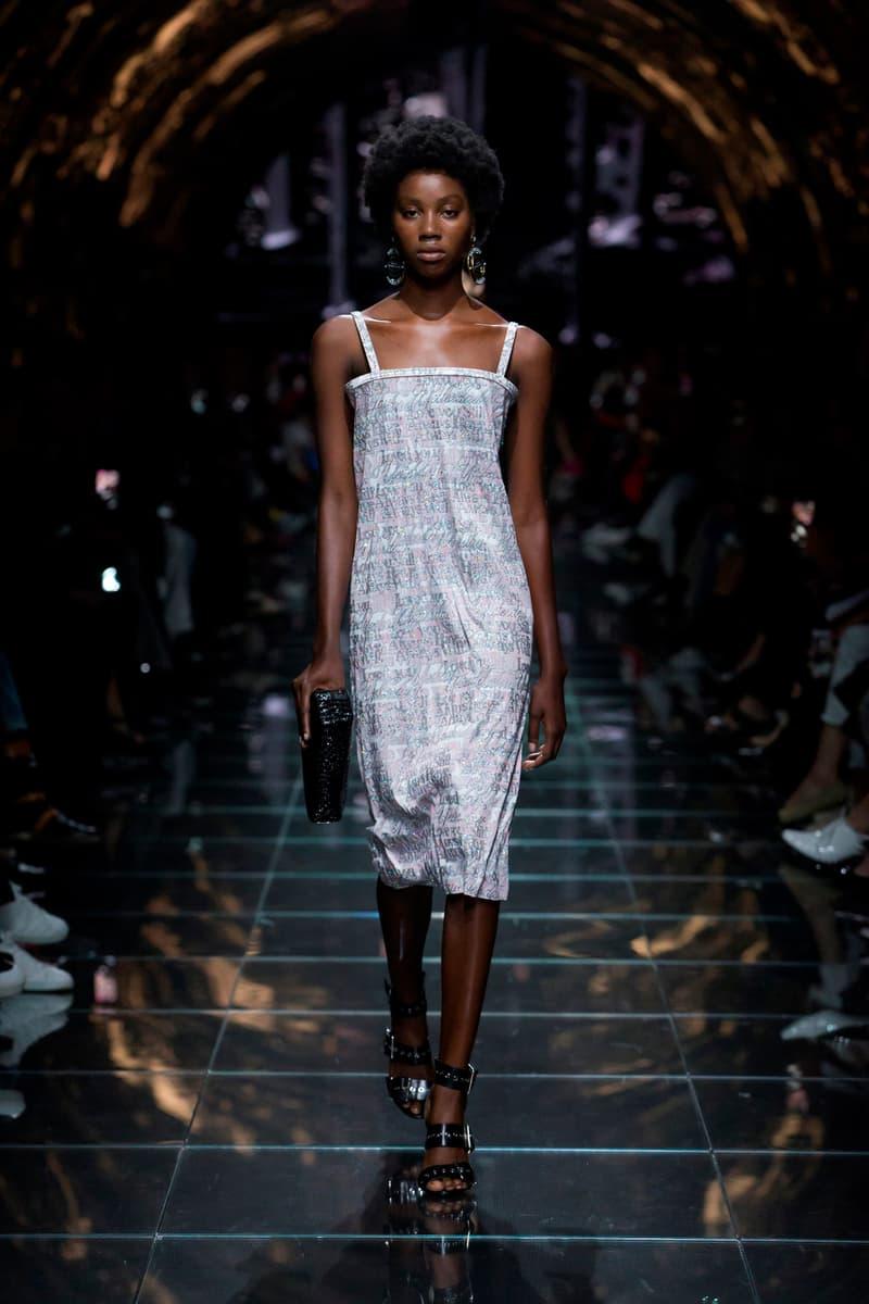 Balenciaga Spring Summer 2019 Show Collection Paris Fashion Week Logo Dress White