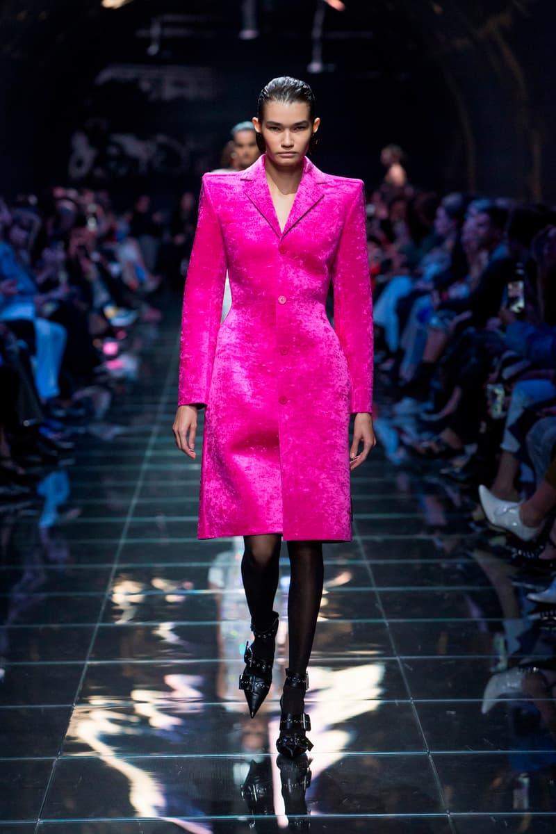 Balenciaga Spring Summer 2019 Show Collection Paris Fashion Week Blazer Pink