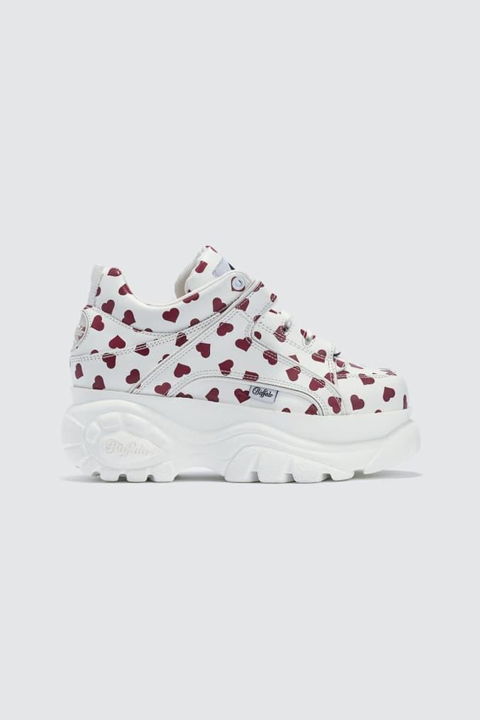 Buffalo London Heart Platform Sneakers White