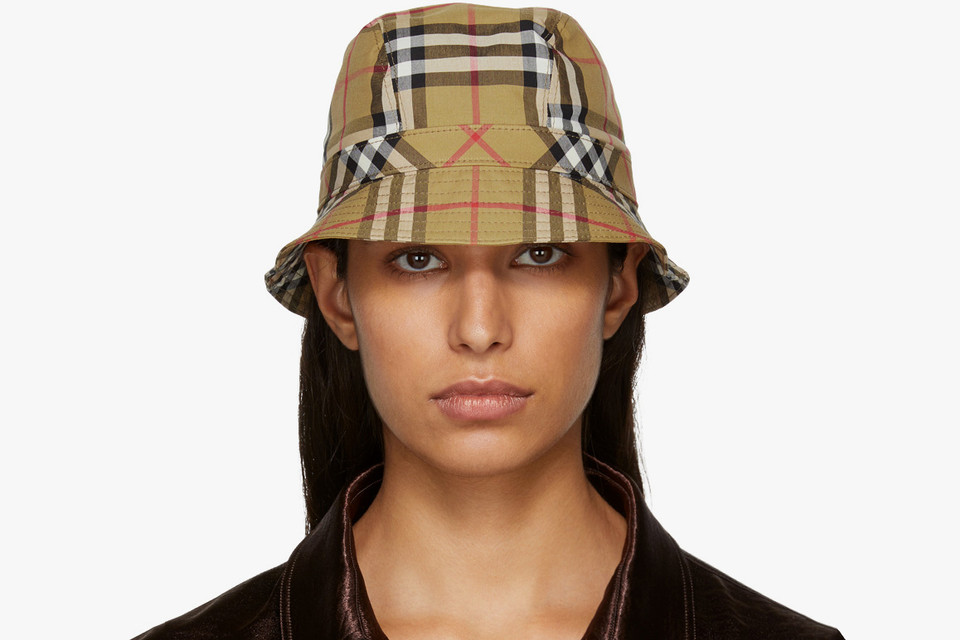 dc4db338cce Where to Buy Burberry Beige Check Bucket Hat