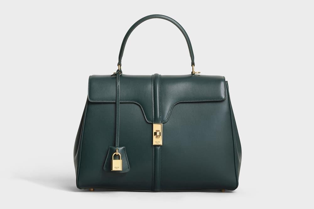 Hedi Slimane Celine Le 16 Designer Handbag Black Brown Burgundy Amazone Green Nude Pre-Order SS19