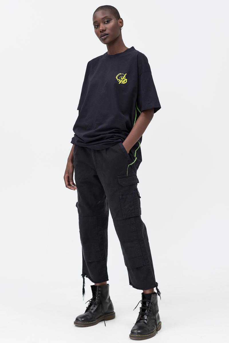 Cheap Monday C/O Capsule Collection Lookbook T-shirt Work Chinos Black