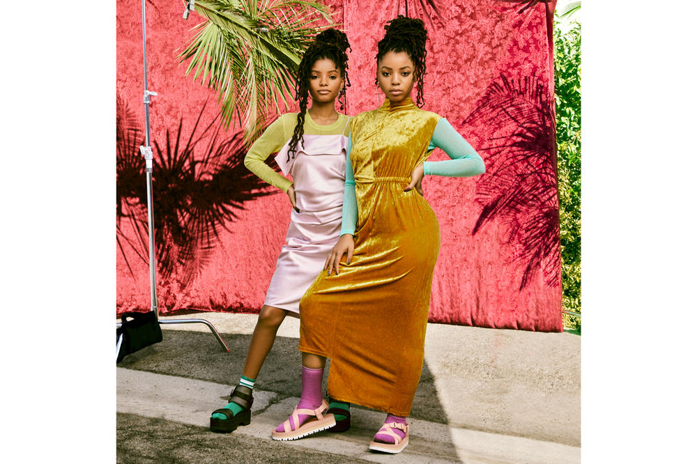 Chloe x Halle Teva Fall 2018 Indio Jewell Black Whip Blush