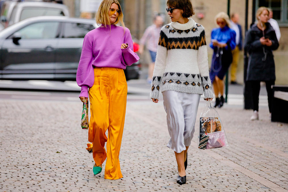 Oslo Runway SS19 Fashion Week Sweater Street Style
