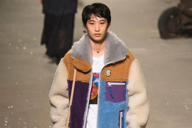 2b12f541f13 Coach 1941 Spring Summer 2019 New York Fashion Week Show Fur Coat Cream  Purple