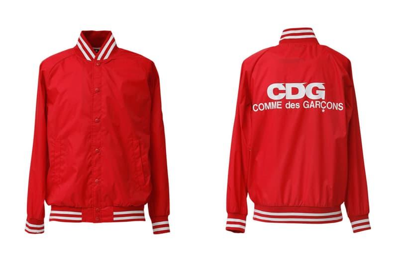 COMME des GARCONS CDG Logo Bomber Jacket Red