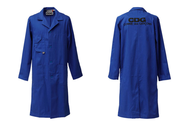 COMME des GARCONS CDG Logo Lab Coat Blue