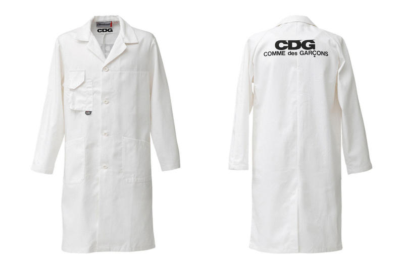 COMME des GARCONS CDG Logo Lab Coat White