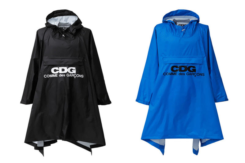 COMME des GARCONS CDG Logo Rain Coats Black Blue