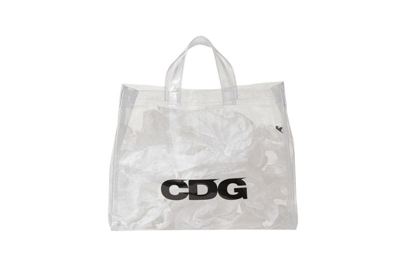 COMME des GARCONS CDG Logo PVC Tote Clear