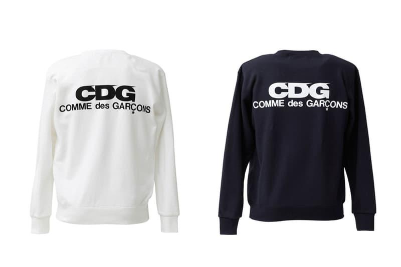 COMME des GARCONS CDG Logo Sweatshirts White Navy