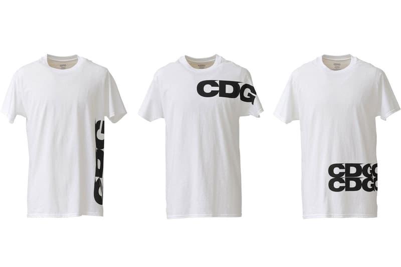 COMME des GARCONS CDG Logo T-shirts White Black