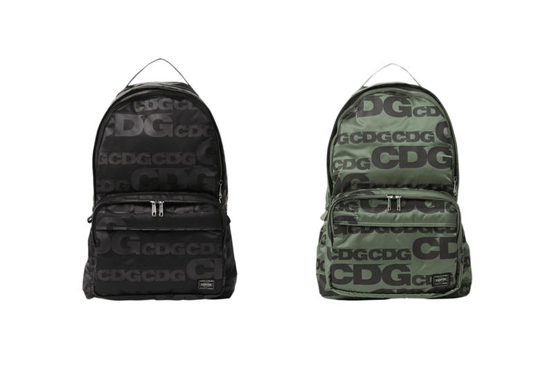 COMME des GARCONS CDG Logo Backpacks Black Green