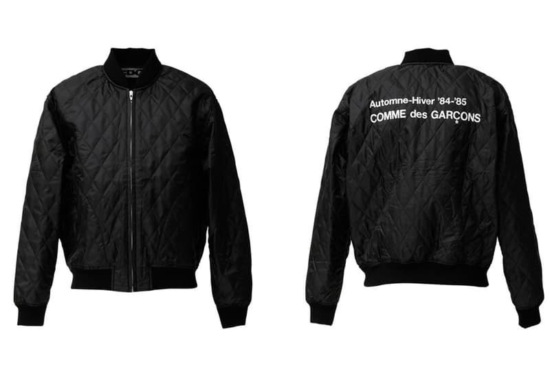 COMME des GARCONS CDG Logo Bomber Jacket Black