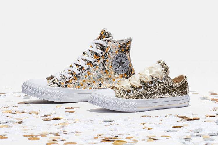 3669750cebde Converse s Holiday 2018 Footwear Is Covered in Sequins   Glitter