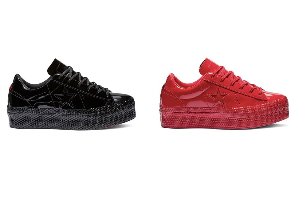 1ea22e835e4c53 Converse One Star Patent Platform Sneakers
