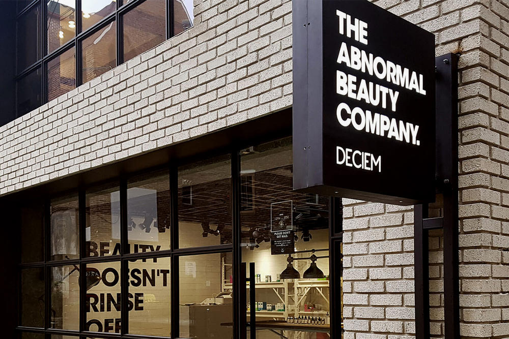 DECIEM Abnormal Beauty Company The Ordinary Store Shop Interior Exterior