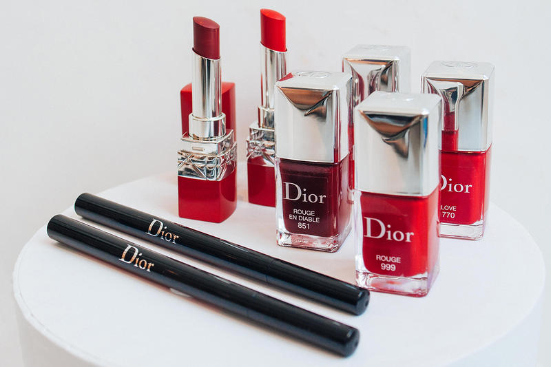 Dior Makeup Rouge Ultra Nail Polish Lacquer Lip Liner Lipstick Red