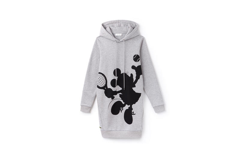 Disney x LACOSTE Capsule Collection Minnie Mouse Hoodie Grey