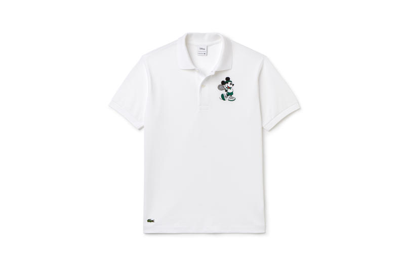 Disney x LACOSTE Capsule Collection Mickey Mouse Collared Shirt White