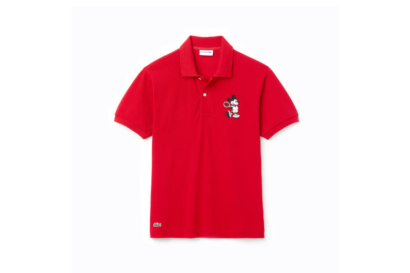 Disney x LACOSTE Capsule Collection Mickey Mouse Collared Shirt Red